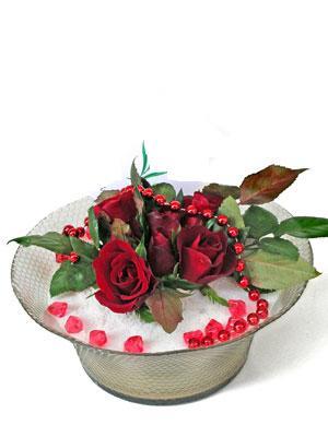 Erzurum yurtiçi ve yurtdışı çiçek siparişi  EN ÇOK Sevenlere 7 adet kirmizi gül mika yada cam tanzim