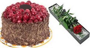 1 adet yas pasta ve 1 adet kutu gül  Erzurum çiçek gönderme sitemiz güvenlidir