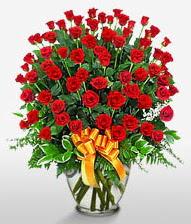 Görsel vazo içerisinde 101 adet gül  Erzurum çiçek yolla , çiçek gönder , çiçekçi