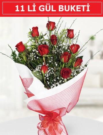 11 adet kırmızı gül buketi Aşk budur  Erzurum çiçek siparişi vermek