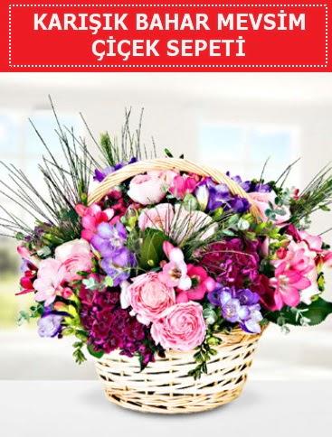 Karışık mevsim bahar çiçekleri  Erzurum anneler günü çiçek yolla