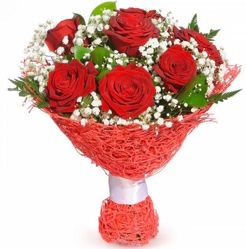 7 adet kırmızı gül buketi  Erzurum kaliteli taze ve ucuz çiçekler