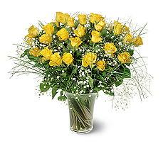 Erzurum çiçek servisi , çiçekçi adresleri  15 adet sarigül mika yada cam vazoda