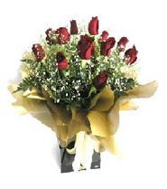 Erzurum güvenli kaliteli hızlı çiçek  11 adet kirmizi gül  buketi