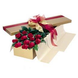 Erzurum İnternetten çiçek siparişi  10 adet kutu özel kutu
