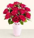 Erzurum hediye sevgilime hediye çiçek  10 kirmizi gül cam yada mika vazo tanzim