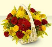 Erzurum çiçek yolla  sepette mevsim çiçekleri