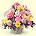 Erzurum çiçek gönderme sitemiz güvenlidir  sepet içerisinde gül ve mevsim