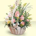 Erzurum çiçek yolla  sepette pembe güller