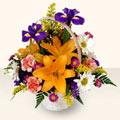 Erzurum çiçek yolla  sepet içinde karisik çiçekler