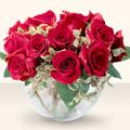 Erzurum çiçek satışı  mika yada cam içerisinde 10 gül - sevenler için ideal seçim -