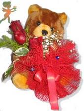 oyuncak ayi ve gül tanzim  Erzurum kaliteli taze ve ucuz çiçekler