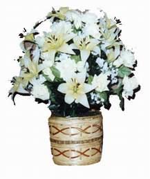 yapay karisik çiçek sepeti   Erzurum ucuz çiçek gönder