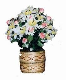 yapay karisik çiçek sepeti   Erzurum çiçek , çiçekçi , çiçekçilik