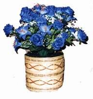 yapay mavi çiçek sepeti  Erzurum İnternetten çiçek siparişi