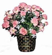yapay karisik çiçek sepeti  Erzurum çiçek satışı