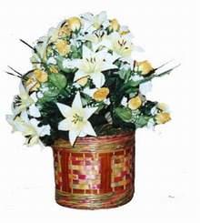 yapay karisik çiçek sepeti   Erzurum İnternetten çiçek siparişi