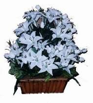 yapay karisik çiçek sepeti   Erzurum online çiçekçi , çiçek siparişi