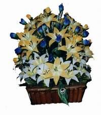 yapay karisik çiçek sepeti   Erzurum cicek , cicekci