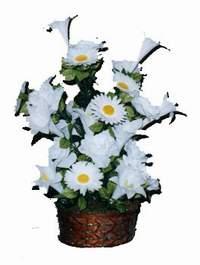 yapay karisik çiçek sepeti  Erzurum yurtiçi ve yurtdışı çiçek siparişi