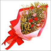 12 adet renkli  gül buketi   Erzurum çiçek online çiçek siparişi