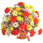 karisik renkli çiçek sepet   Erzurum çiçek siparişi vermek