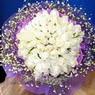 71 adet beyaz gül buketi   Erzurum 14 şubat sevgililer günü çiçek
