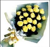 sari güllerden sade buket  Erzurum 14 şubat sevgililer günü çiçek