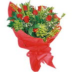 10 adet kirmizi gül buketi  Erzurum online çiçek gönderme sipariş