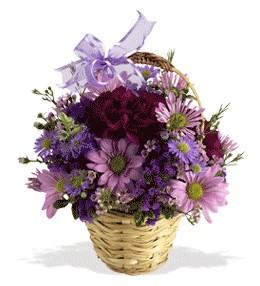 Erzurum çiçek gönderme sitemiz güvenlidir  sepet içerisinde krizantem çiçekleri
