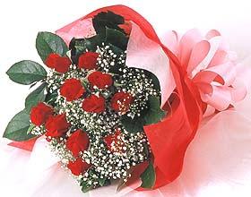 12 adet kirmizi gül buketi  Erzurum çiçek yolla , çiçek gönder , çiçekçi