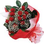 Erzurum çiçek mağazası , çiçekçi adresleri  KIRMIZI AMBALAJ BUKETINDE 12 ADET GÜL