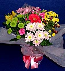 Erzurum hediye sevgilime hediye çiçek  küçük karisik mevsim demeti