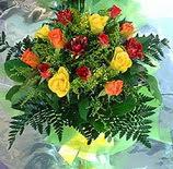 13 adet karisik gül buketi demeti   Erzurum çiçek gönderme sitemiz güvenlidir