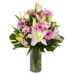 vazo içerisinde karisik mevsim çiçekleri  Erzurum güvenli kaliteli hızlı çiçek