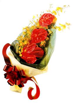 özel 5 adet antorium buketi   Erzurum çiçek siparişi vermek