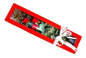 Erzurum hediye sevgilime hediye çiçek  Kutuda 3 adet gül