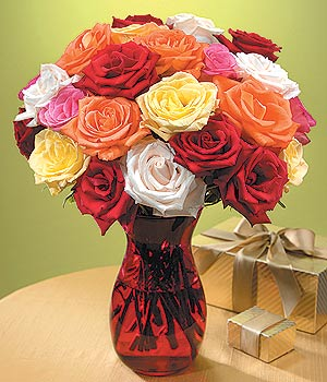 Erzurum çiçek gönderme  13 adet renkli gül