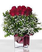 Erzurum 14 şubat sevgililer günü çiçek  11 adet gül mika yada cam - anneler günü seçimi -