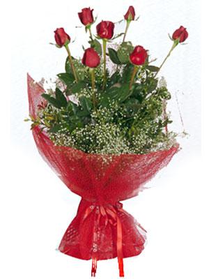 Erzurum çiçek , çiçekçi , çiçekçilik  7 adet gülden buket görsel sik sadelik
