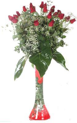 Erzurum çiçek gönderme sitemiz güvenlidir  19 ADET GÜL VE FIL CAM AYAGI