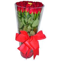 Erzurum çiçek satışı  12 adet kirmizi gül cam yada mika vazo tanzim