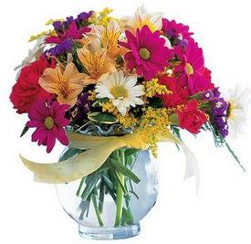 Erzurum çiçek mağazası , çiçekçi adresleri  cam yada mika içerisinde karisik mevsim çiçekleri