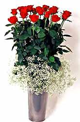 Erzurum çiçek yolla , çiçek gönder , çiçekçi   9 adet kirmizi gül cam yada mika vazoda