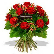 9 adet kirmizi gül ve kir çiçekleri  Erzurum çiçek mağazası , çiçekçi adresleri