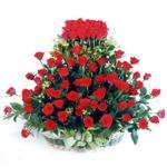 Erzurum hediye çiçek yolla  41 adet kirmizi gülden sepet tanzimi