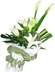 Erzurum çiçekçi mağazası  3 dal kazablanka çiçegi ve yesillikler
