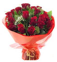 Erzurum çiçek gönderme  11 adet kimizi gülün ihtisami buket modeli