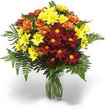 Erzurum çiçek servisi , çiçekçi adresleri  Karisik çiçeklerden mevsim vazosu