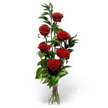 Erzurum çiçek servisi , çiçekçi adresleri  cam yada mika vazo içerisinde 6 adet kirmizi gül